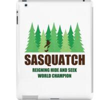 Bigfoot Sasquatch Hide and Seek World Champion iPad Case/Skin