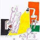 Night Drawings - Les Dessins de Nuit n°64  - Le Modèle et son peintre by Pascale Baud