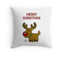 Reindeer - Christmas Card Throw Pillow