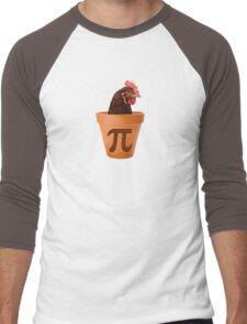Chicken Pot Pi  Men's Baseball ¾ T-Shirt
