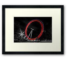 London Eye Light Trails Framed Print