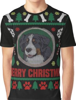 Bernese Mountain Dog Ugly Christmas Sweater, Funny Dog T-Shirt Graphic T-Shirt