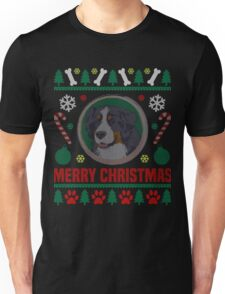 Bernese Mountain Dog Ugly Christmas Sweater, Funny Dog T-Shirt Unisex T-Shirt