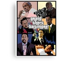 The Wire + Grand Theft Auto | Grand Theft Baltimore Canvas Print