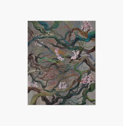 Twisted Cherry Blossom Branches Art Board