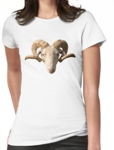 Ram's head Womens Fitted T-Shirt