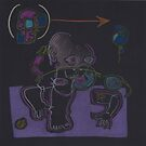 Night Drawings - Les Dessins de Nuit n°04 (serie 2)  - Kathy's Doll by Pascale Baud