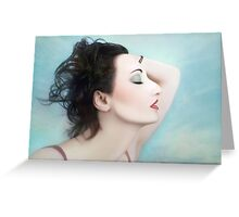 Whispers of the Divine - Self Portrait Greeting Card