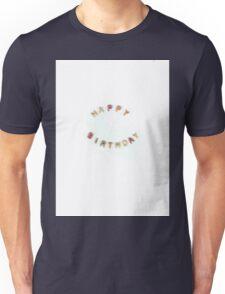 Happy Birthday Alphabet Soup Unisex T-Shirt