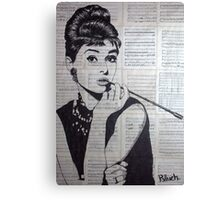 old book drawing famous people Audrey Canvas Print