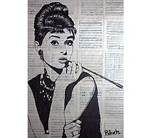 old book drawing famous people Audrey Photographic Print
