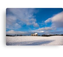 Northern Ireland abandoned house Co Antrim Canvas Print