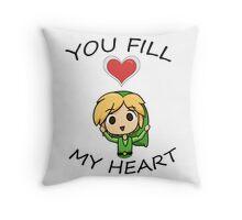 Legend of Zelda- You Fill My Heart! Throw Pillow