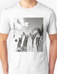 B&W Surfboard Fence Paia Unisex T-Shirt