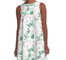 Peppermint and Holly A-Line Dress