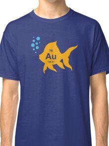 Periodic Table Elemental Gold Fish Classic T-Shirt