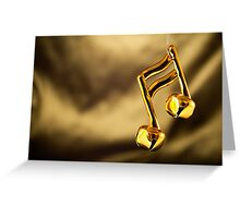 Christmas Music note ornament Greeting Card