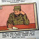 Fidel Castro cigarette card  by Alastair McKay