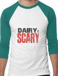 Dairy is Scary print Men's Baseball ¾ T-Shirt