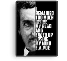 E.A. Poe Insane Canvas Print