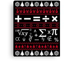 Funny Men Women Math Teacher T-Shirt, Math Teacher Ugly Christmas Sweater Shirt Canvas Print