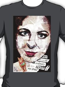 old book drawing famous people collage T-Shirt