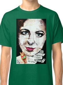 old book drawing famous people collage Classic T-Shirt