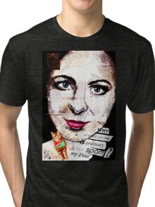 old book drawing famous people collage Tri-blend T-Shirt