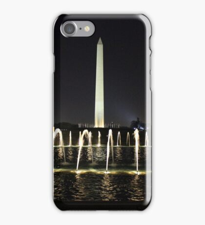 Washington Memorial from World War II Memorial iPhone Case/Skin