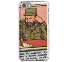 Fidel Castro cigarette card  iPhone Case/Skin
