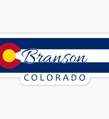 Branson Colorado flag stripe Sticker