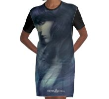 Motoko San Graphic T-Shirt Dress