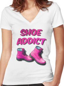 Shoe Addict Women's Fitted V-Neck T-Shirt