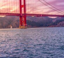 Golden Gate Bridge at Dusk Sticker