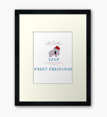 Christmas Johnlock Framed Print