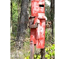 Ned Kelly Mailbox Photographic Print