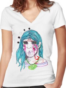 talisman Women's Fitted V-Neck T-Shirt