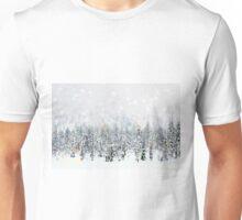 Winter Forest Snowfall Unisex T-Shirt