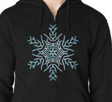 Christmas Snowflake Zipped Hoodie