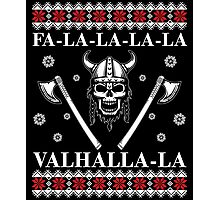 Valhalla Ugly Christmas Sweater, Men Women Viking T-Shirt Photographic Print