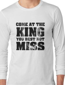 Omar Little - The Wire - Come at the king Long Sleeve T-Shirt