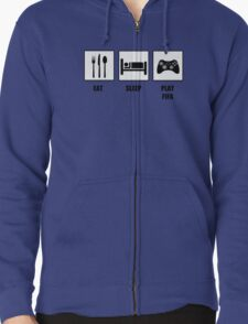 EAT SLEEP PLAY FIFA Zipped Hoodie