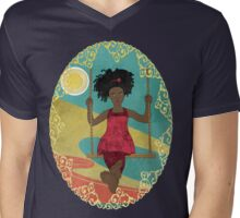 Barefoot Girl on Swing Mens V-Neck T-Shirt