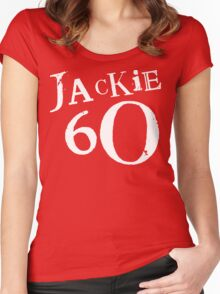 Red Holiday Editions Jackie 60 Logo  Women's Fitted Scoop T-Shirt