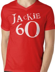 Red Holiday Editions Jackie 60 Logo  Mens V-Neck T-Shirt