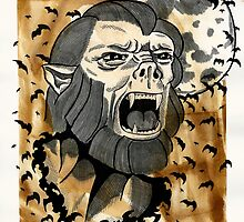 Universal Horror Monster: The Wolf Man by starkgravingmad