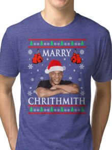 Merry Chrithmith Funny Christmas Tri-blend T-Shirt