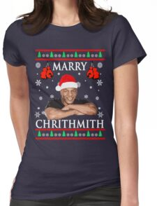 Merry Chrithmith Funny Christmas Womens Fitted T-Shirt