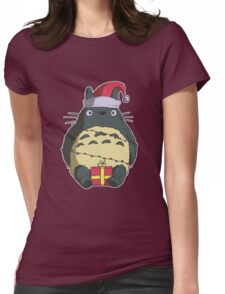 Totoro-Ho-Ho Womens Fitted T-Shirt