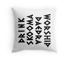 drink skooma worship daedra Throw Pillow